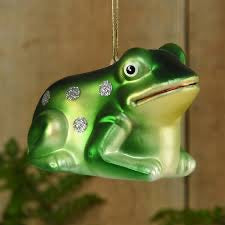 Glass Frog Ornament- 6333