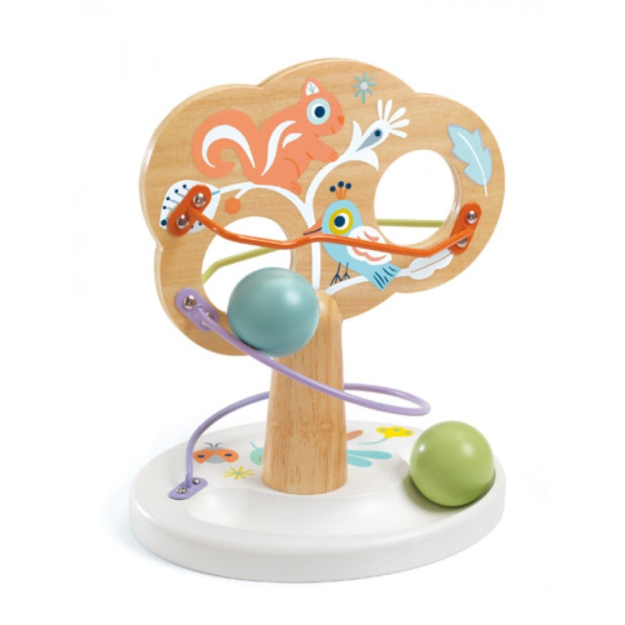 Baby Tree Wooden Ball Rolling Activity