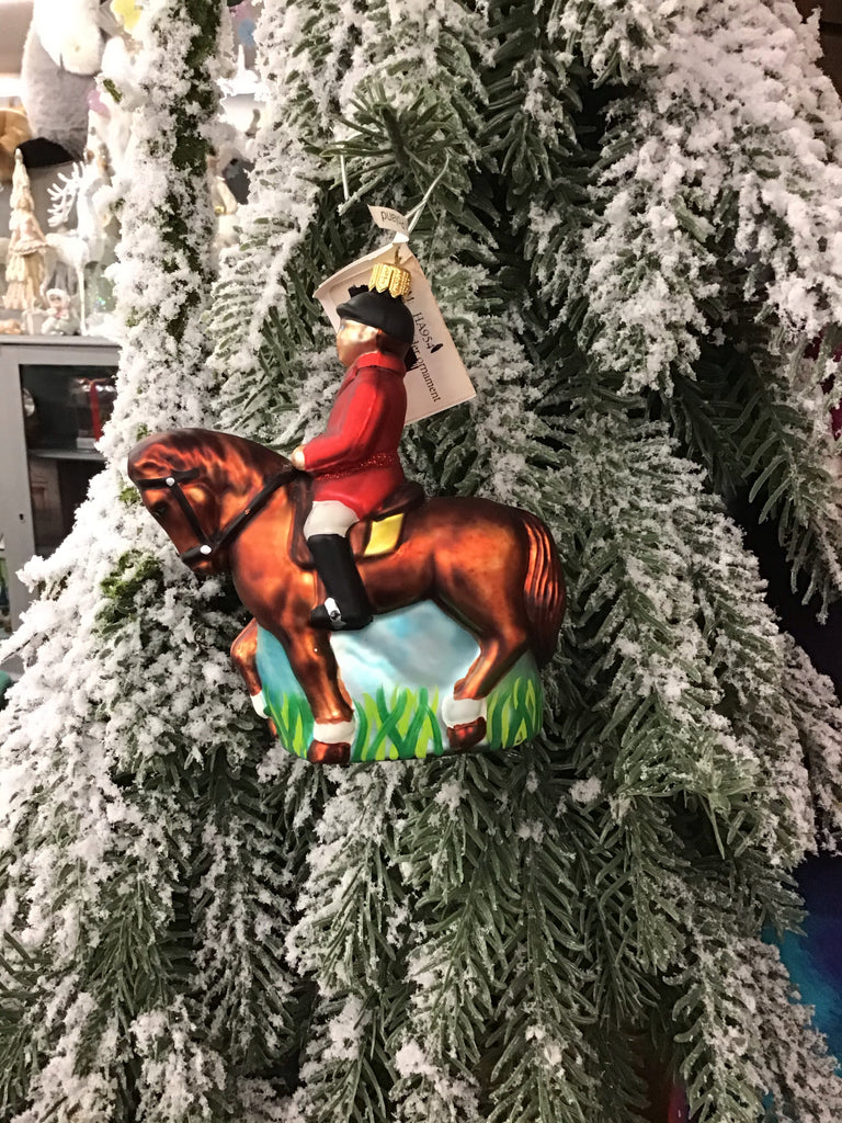 Abigails Collection Horse and Rider Ornament