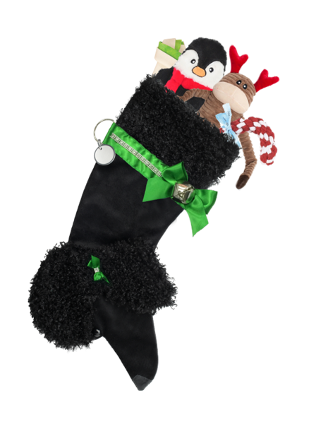 Black Poodle Stocking