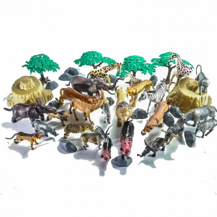 National Geographic 45 Piece Wild Animals Figurines