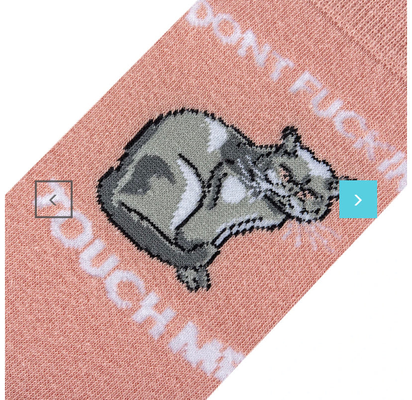 Don't F'ing Touch Me Women's Folded Crew Socks