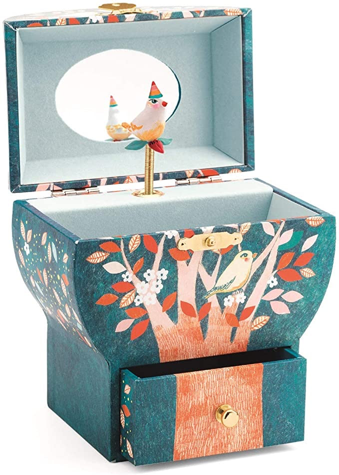 Night Singing Bird Musical Jewelry Box