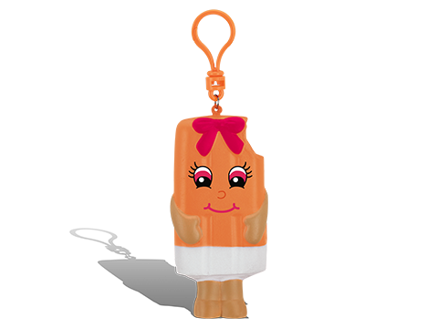 Whiffer Sniffer Sunny Pop Squisher Backpack Clip - Orange Cream Scented