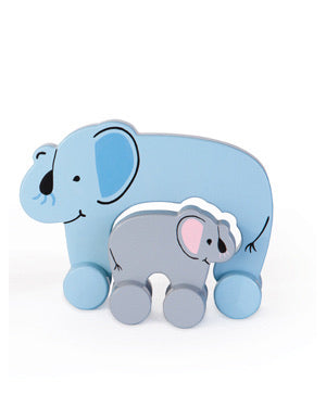 Elephant Mommy and Baby Rolling Toy (Big and Little)
