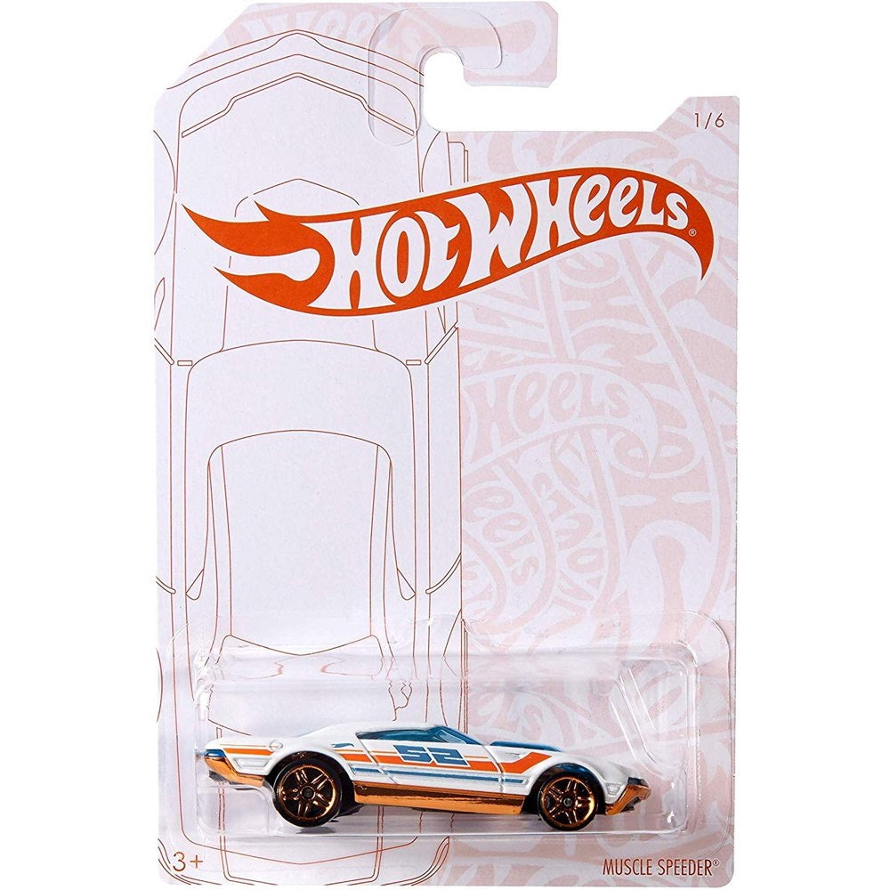 Pearl Chrome Muscle Speeder Hot Wheels Car