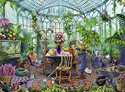 Greenhouse Mornings 500 pc Puzzle