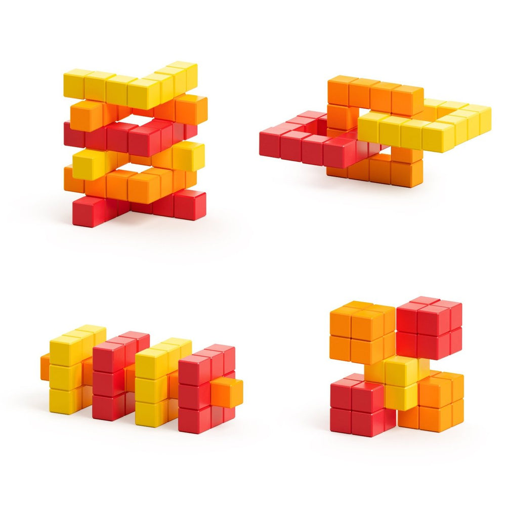 PIXIO Abstract Series LAVA - 60 Magnetic Blocks