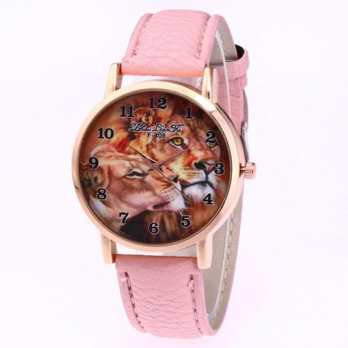 'Safari Lion Face' Waterproof Wrist Watch