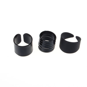 New Cool Black Metal 3 Piece Knuckle Ring Set
