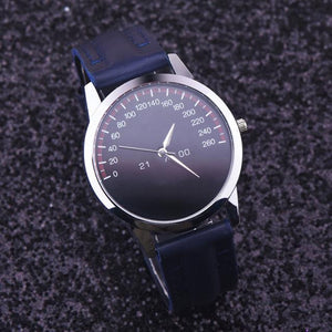 Analog Quartz Leather Band Wrist Watch