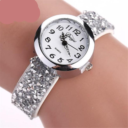 Crystal Rhinestone Bracelet Quartz Luxury Vintage Women's Watch