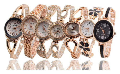 Hot Sales Rose Gold Bracelet Dress Quartz Wrist Watch
