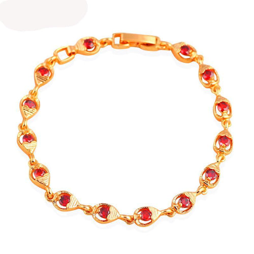 Amazingly Design Garnet & Gold with Crystal Bracelets