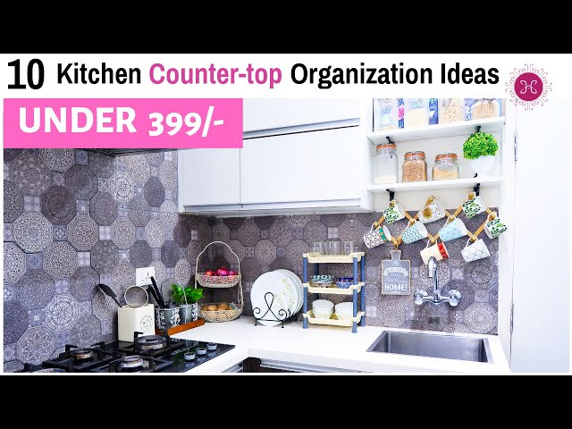 This is a kitchen countertop organization video