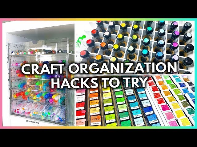 For a creative space, your craft supplies needs some love and attention as well