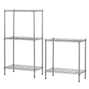 Organize with ferty 5 wire shelving units stacking storage shelf heavy duty metal adjustable shelves rack organizer for garden laundry bathroom kitchen pantry closet us stock