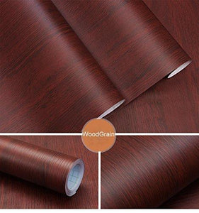 Organize with decorative faux wood grain contact paper vinyl self adhesive shelf drawer liner for bathroom kitchen cabinets shelves table arts and crafts decal 24x117 inches