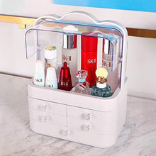 Load image into Gallery viewer, Purchase sooyee makeup organizer modern jewelry and cosmetic storage display boxes with handle waterproof dustproof design great for bathroom dresser vanity and countertop5 white drawers 2 clear lids