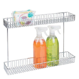 Save on interdesign classico metal 2 tier shelf under sink organizer for kitchen bathroom cabinets 16 75 x 4 25 x 13 chrome