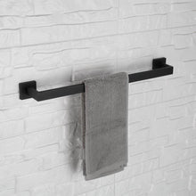 Load image into Gallery viewer, Purchase luckin towel bar set black modern bathroom accessories set matte black bath towel rack set with toilet paper holder 4 pcs