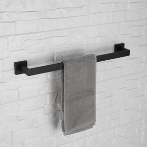 Purchase luckin towel bar set black modern bathroom accessories set matte black bath towel rack set with toilet paper holder 4 pcs