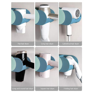 Discover the boomjoy hair dryer holder wall mount hair styling tolls organizer blower dryer holder no drilling bathroom storage blue