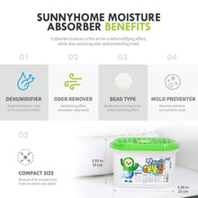 Load image into Gallery viewer, Try sunny home moisture absorber for home odor eliminator dehumidifier and deodorizer for closet bathroom kitchen and more 16 pk