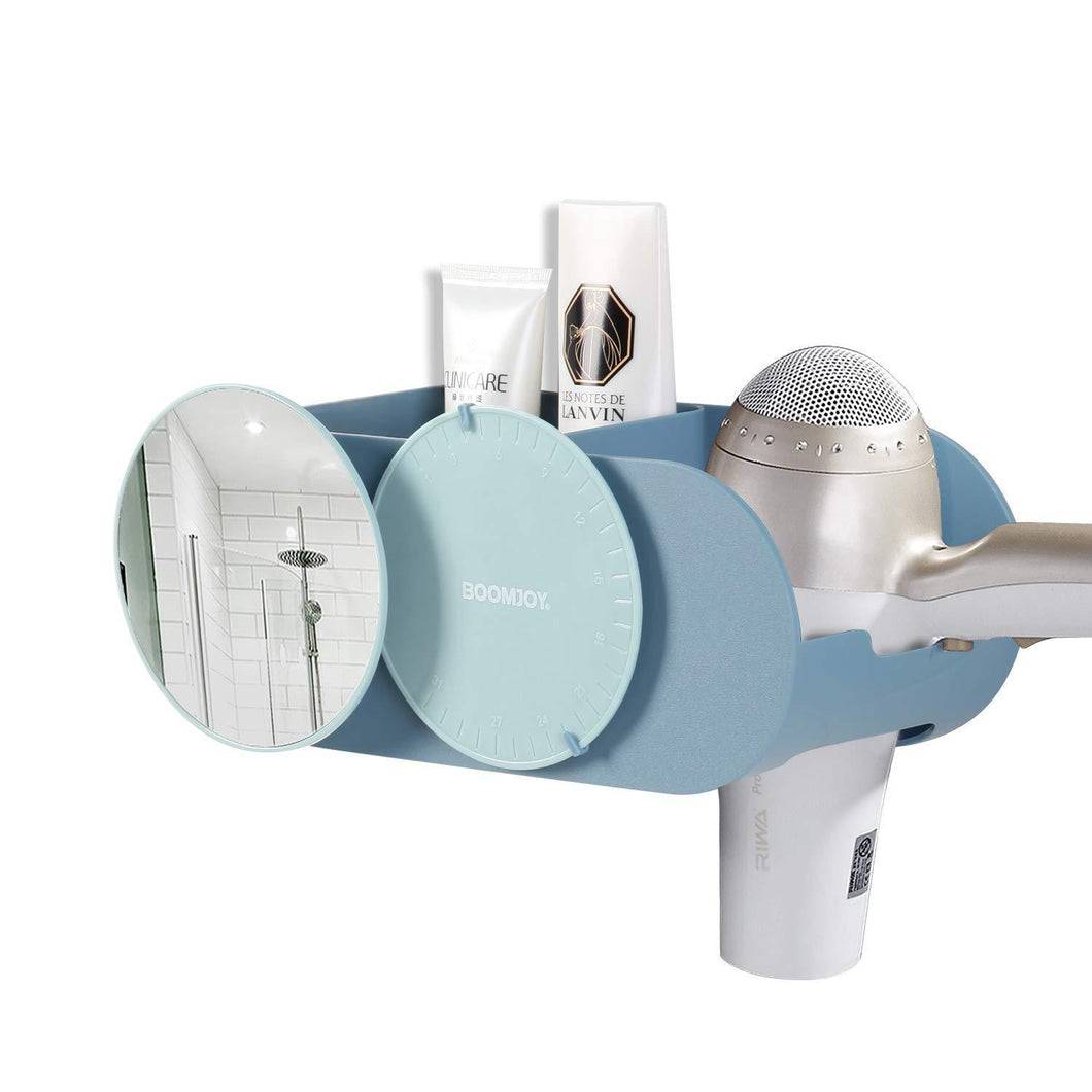 Budget friendly boomjoy hair dryer holder wall mount hair styling tolls organizer blower dryer holder no drilling bathroom storage blue