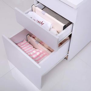 Organize with 4 drawer organizer and dividers organize silverware and utensils in home kitchen divider for clothes in bedroom dresser designed to not snag underwear and bra fabrics bathroom storage organizers