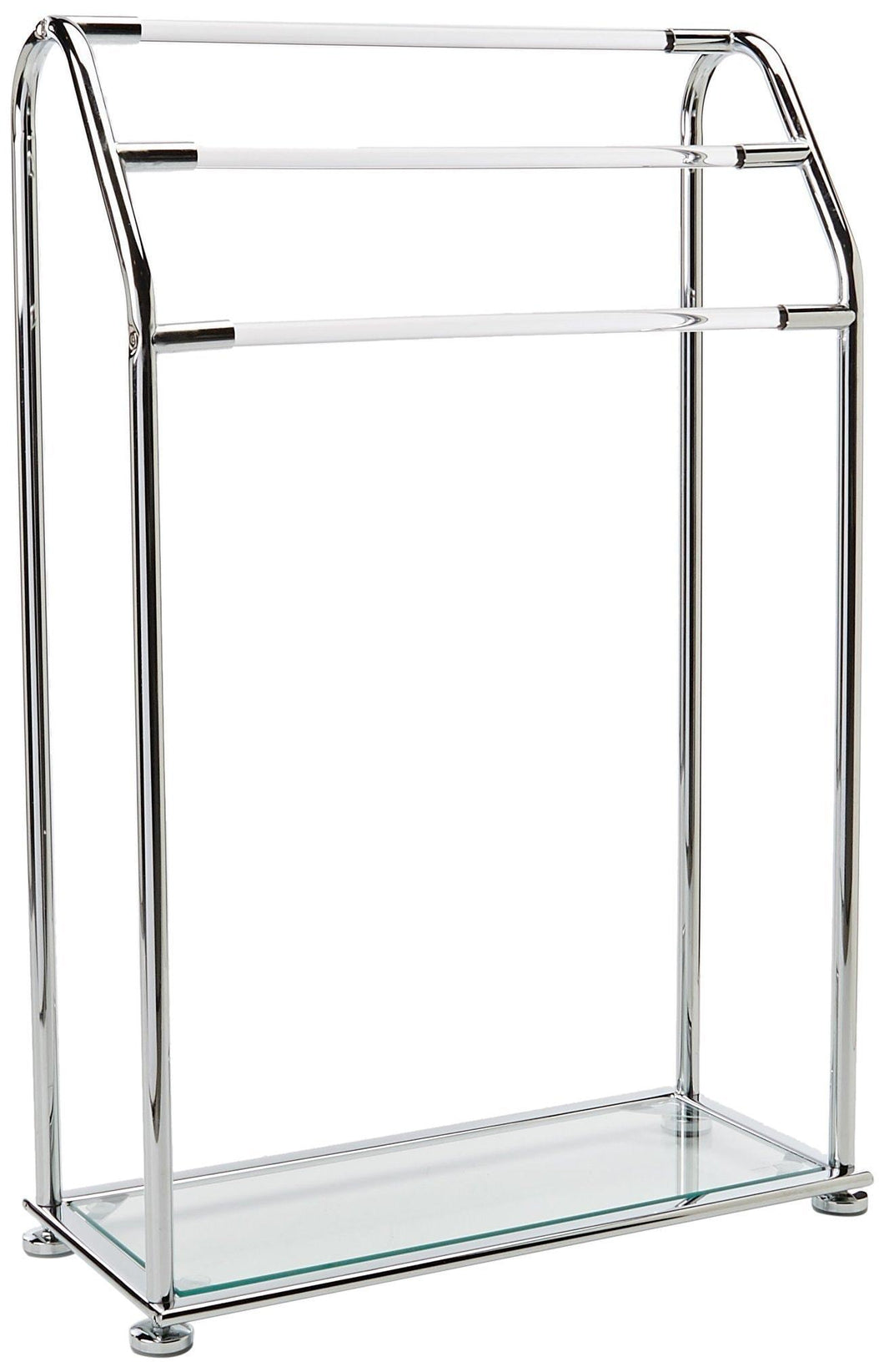 Featured organize it all 3 bar bathroom towel drying rack holder with shelf chrome