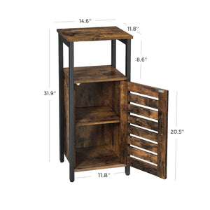 Selection vasagle industrial bathroom storage cabinet end table storage floor cabinet with shelf multifunctional in living room bedroom hallway rustic brown ulsc34bx