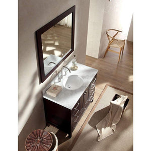 Purchase ariel cambridge a043s esp 43 single sink solid wood bathroom vanity set in espresso with white carrara marble countertop