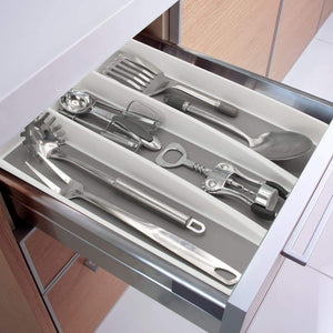 Great sorbus utensil drawer organizer expandable cutlery drawer trays for silverware serving utensils multi purpose storage for kitchen office bathroom supplies utensil drawer organizer white