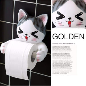 Get c s toilet paper holder dispenser tissue roll towel holder stand funny animal wall mount bathroom kitchen home decor cat