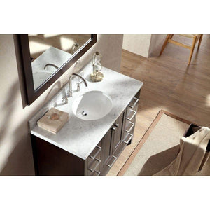 Products ariel cambridge a043s esp 43 single sink solid wood bathroom vanity set in espresso with white carrara marble countertop