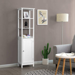 Related vasagle floor cabinet multifunctional bathroom storage cabinet with 3 tier shelf free standing linen tower wooden white ubbc63wt