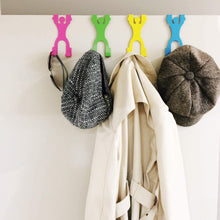 Load image into Gallery viewer, Get harpel my doorman over door hook towel hanger door coat rack helps organize clothes closets bathroom more 4 men 8 hooks