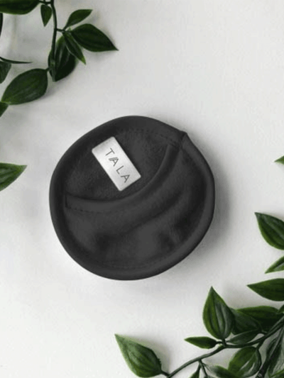 LEAF MINI FACE CLOTH - BLACK