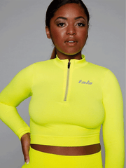 BLAZE CROP - NEON YELLOW