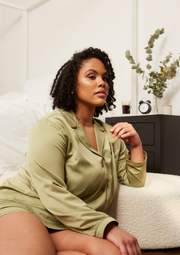SONDA LONG SLEEVE PYJAMA SHIRT - SAGE