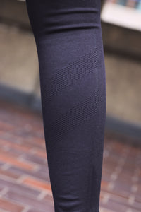 STRIDE RUN LEGGINGS - BLACK