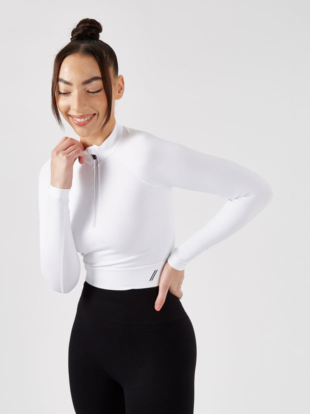 ASTER FULL LENGTH TOP - WHITE
