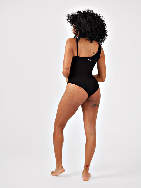SAROSE BODYSUIT - BLACK