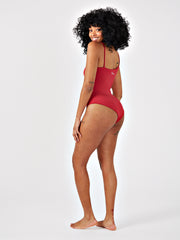 SAROSE BODYSUIT - RHUBARB RED