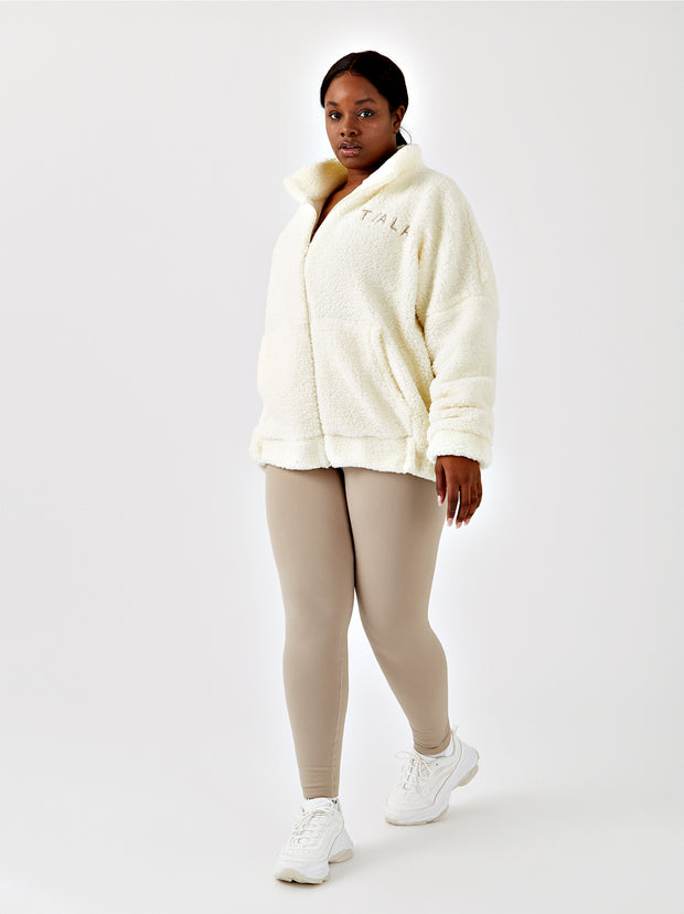 OVERSIZED BORG JACKET - CREAM