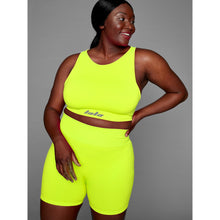 Load image into Gallery viewer, THE MINA BRA - NEON YELLOW (GREY BRANDING)