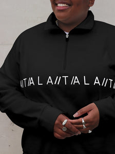 ASA ZIP SWEAT - BLACK