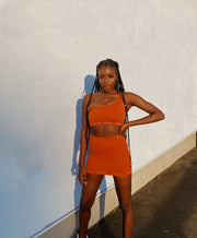 LAVA ONE-SHOULDER CROP - BURNT ORANGE