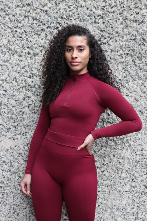 ASTER FULL LENGTH TOP - BURGUNDY